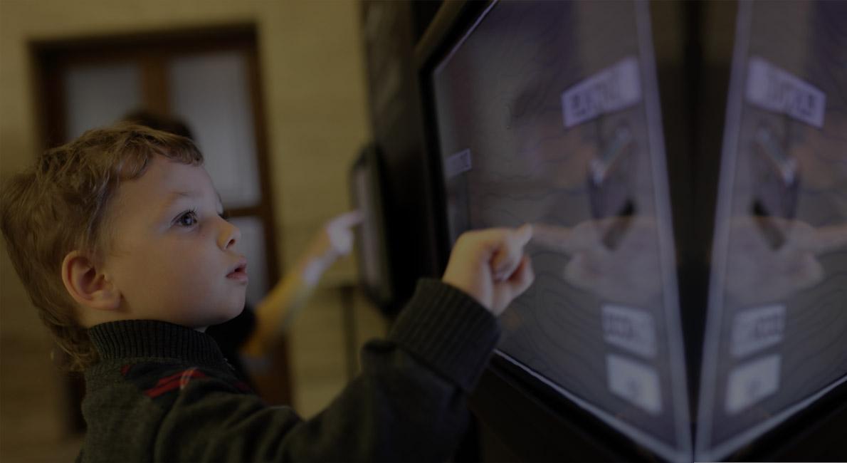 kid at screen